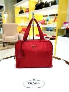 Prada Handbag Tessuto Rosso
