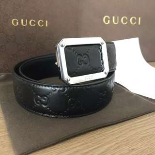 Sabuk Gucci Pria Ori Leather Mirror Quality