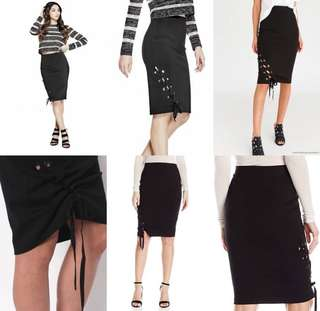Guess lace up skirt