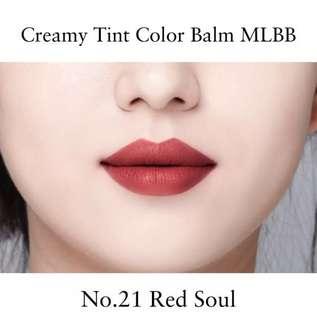 Mamonde creamy tint colour balm MLBB set red soul no. 21