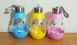 Botol air minum bentuk telur - drink bottle - egg / chick