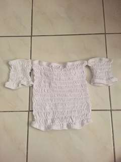 Unbranded smocked cropped top