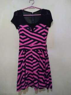 🍒Black & Pink Dress