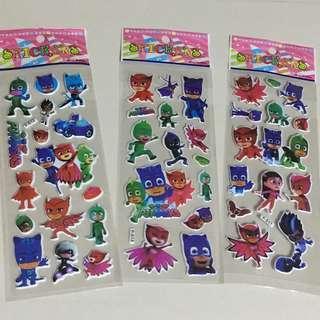 PJ masks puffy stickers 6 designs