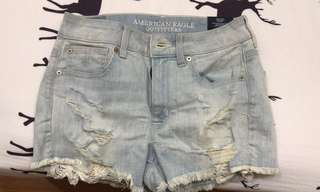 american outfitters denim ripped shorts