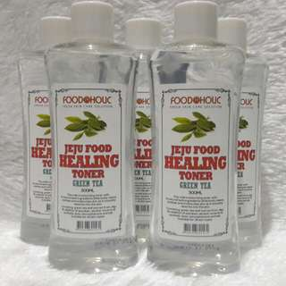 Foodaholic Jeju Food Healing Toner (Green Tea) 300ml.