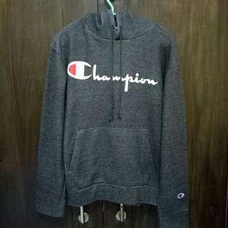 champion grey script hoodie original