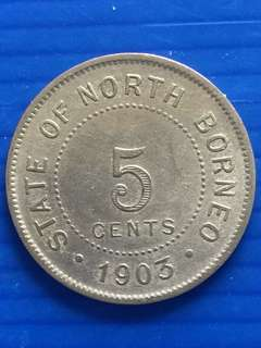 North Borneo 5 Cent 1903