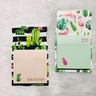 Flamingo & Cactus Sticky Notes ONHAND