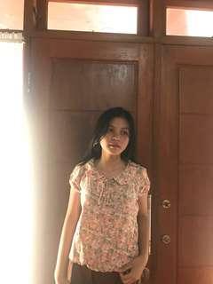 Baju kantor atmosphere #bajukantor #floral #blouse #second #seken
