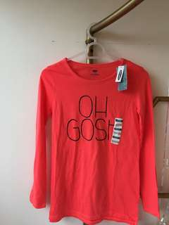Red long sleeves top