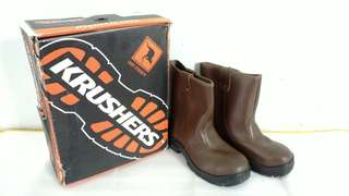 Sepatu Safety / Safety Shoes Krushers Texas Size 43 Brown