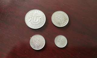 Brunei coin set (4 pcs)汶莱币