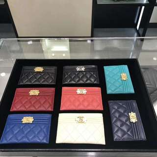 Chanel Le boy 荔枝牛皮小卡包