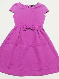 Purple pouf dress