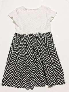 Black and white pouf dress