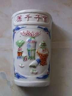 六十年代百子千孫筷子筒