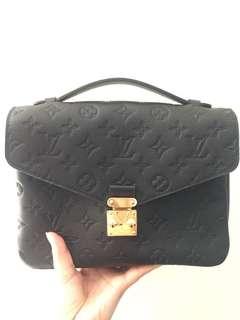 100%new 全新 專門店貨 LV Pochette Metis 黑色壓花logo crossbody bag messenger bag black 專門店已斷貨