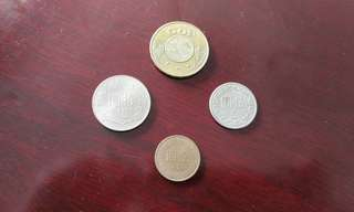 Taiwan vintage currency coin set (4 pcs)币