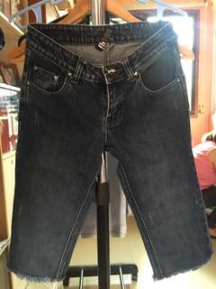 Folded & Hung Pedal Jeans