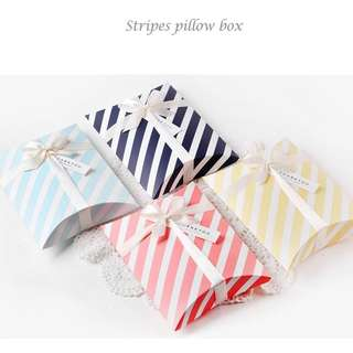 Striped Gift Box Pastel Colors