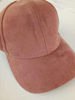 H&M - Old Rose Suede Cap