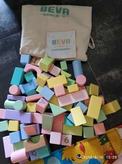 Beva 80粒彩色積木