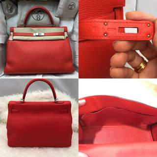 Authentic Hermes 35 Kelly Cappuccine