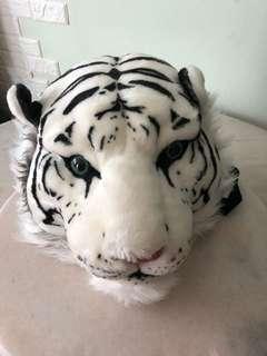 Kids bagpack (white tiger head)