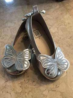 Baby GAP Silver Butterfly Shoes