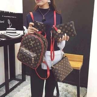 * KOREAN * - 4in1 - bagpack - slingbag - pouch - cardholder