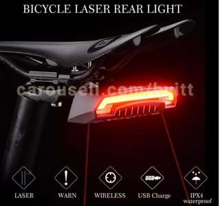 RockBros  laser Tail light with turn signal light bicycle rear light