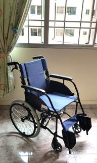 Blue wheelchair (almost new)