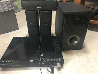 DVD Player and Sound Surround System