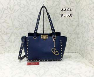 Valentino Rockstuds Tote Bag Blue Color