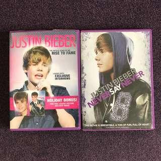JUSTIN BIEBER DVDs
