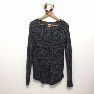 Marble Gray Knitted Sweater