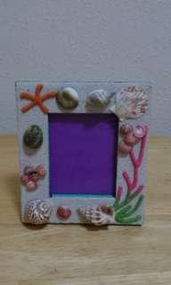 Beach / seashell photo frame