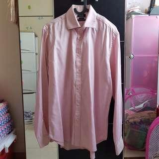 Preloved Zara Man Shirt Pink