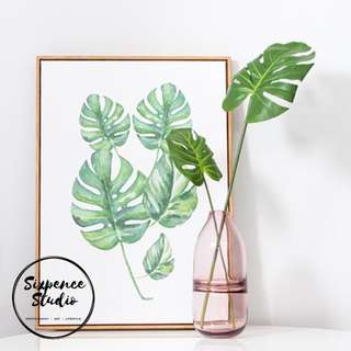 Monstera Artificial leaves for Decorations