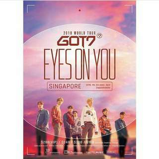 GOT7 TICKET EYES ON YOU IN SINGAPORE