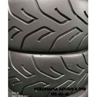 195-50-16 YOKOHAMA ADVAN A048 車呔仔 (二手呔專門店)
