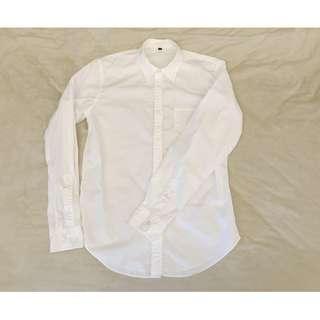 MUJI 無印良品 白色 襯衫 長袖 s號