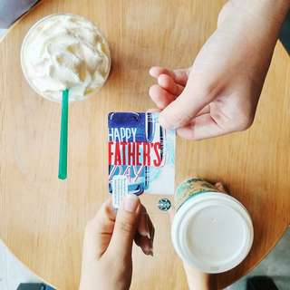 🆕Starbucks® 🇲🇾 Father's Day Card