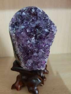 乌拉圭紫金洞块 Purple amethyst
