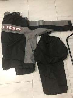 OGK Rain coat, Leather gloves & Mobile holder