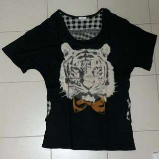 Oversized tiger top