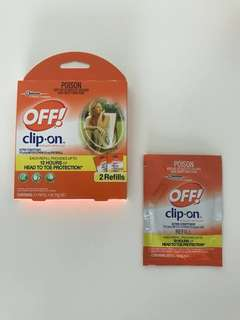 OFF! clip on mosquito repellent refill