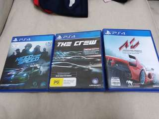 Ps4 Racing Games need for speed the crew assetto corsa