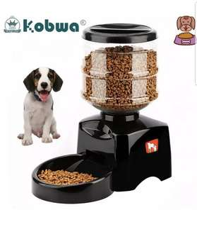 Automatic Pet Feeder(kobwa 5.5L automatic pet  feeder with voice message recording and LCD screen large smart dogs cats food bowl dispenser)